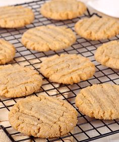These peanut butter cookies have just 3 ingredients. Mix to combine, spoon onto a baking sheet, and bake in a preheated 350°F oven for 8-10 minutes. Let cool and enjoy! It's fast, easy and the cook...