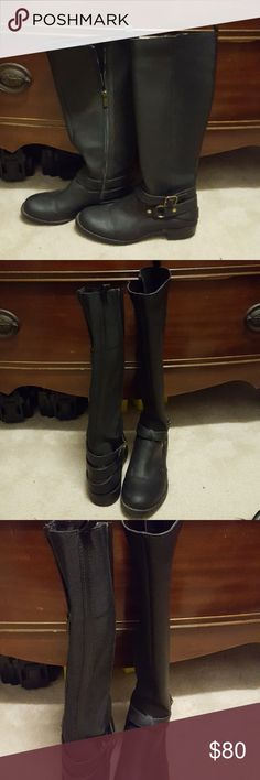 Kenneth Cole high boots Kenneth Cole boots, never worn. zip on the side. Leather in the front/ stretchy material on the back shown on the 4th photo.. super cute on and great for the winter. Make me an offer Kenneth Cole Shoes Winter & Rain Boots