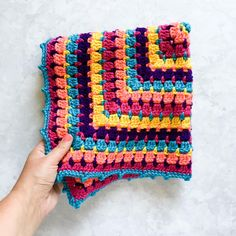 Building Blocks Baby Blanket   This block stitch blanket is a classic for sure - and we can't get enough of those colors!