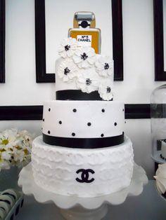 Maddycakes Muse: Chanel Birthday Dessert Table