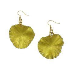 Amazon.com: John S Brana Yellow Anodized Aluminum Lily Pad Earrings: Jewelry