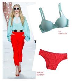 Mix & Match! Diane Von Furstenberg mostrou nas passarelas do NYFW que tons pastel ficam lindos com cores vibrantes. Resgate a calça vermelha do verão passado e veja mais dicas aqui: http://www.injoyunders.com.br/