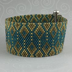 Peyote Bracelet Pattern 456f Bead Weaving INSTANT by AllYouCanBead