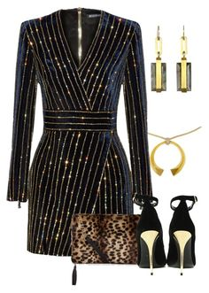 """Untitled #1921"" by anfernee-131 ❤ liked on Polyvore featuring Balmain"