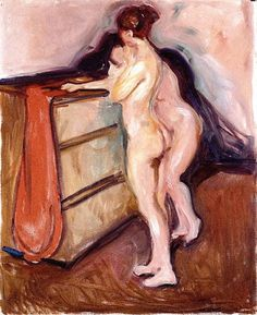 Edward Munch - Two Nudes Standing by a Chest of Drawers, 1902/03