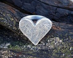 Rugged silver heart shaped ring - FiaFourieJewellery, via Etsy. Heart Shaped Rings, Heart Ring, Heart Shapes, Valentines Day, Handmade Jewelry, Hearts, Jewellery, Silver, Red