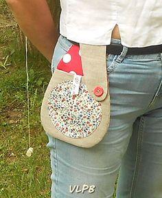 Pochette de ceinture smartphone lin et liberty Phoebe