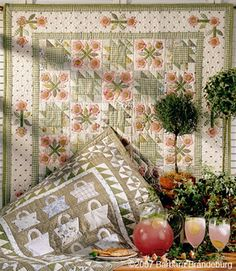"""Pink Lemonade (wall)***Beige Basket***from """"Tried & True"""",  by Barbara Brandeburg"""