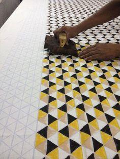 Block printing - Leah Singh Textiles