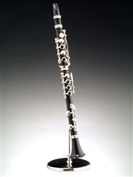 "6.25"" Black Clarinet Miniature Instrument Replica #hiddentreasuresdecorandmore"