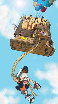 "Gravity falls up - oh man this is so cool!! ""Grunkle Stan is this safe?"" -Dipper Pines"