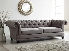 5 Mistakes To Avoid When Buying A Sofa. When buying a sofa, it is confusing with the sheer variety of colours, materials and styles, not to mention the different levels of quality and rates. Upholstered Sofa, Living Room Sofa, Fabric Chesterfield Sofa, Sofa Design, Sofa, New Living Room, Home Decor, Chesterfield Style Sofa, Living Room Designs