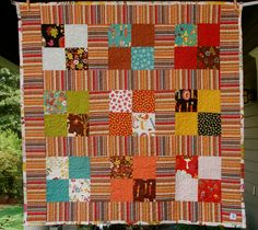 Just in time for fall.  Wee Woodland quilt.