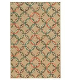 """8'6"""" x 13' Seaside Circles Area Rug   Collection Accessories"""