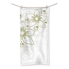 Simple Flowers Beach Towel