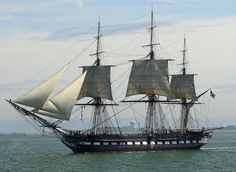 """Historic Boston old iron sides   ... floating forest,"""" the most famous fighting ship in American history"""