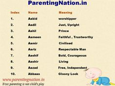 We Love These  Muslim Baby Boy Name So Much That ParentingNation.in Made Slide For You. To Name Your Loved Once.