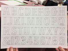 John Downer's alphabet showing sign painter's stroke constructions