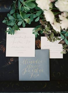 dusty blue wedding invitation kits