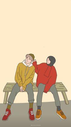 Cute Couple Drawings, Bff Drawings, Cute Couple Cartoon, Cute Couple Art, Cute Love Cartoons, Anime Couples Drawings, Cute Wallpaper Backgrounds, Cute Cartoon Wallpapers, Cover Wattpad