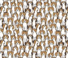 101 beagles fabric by analinea on Spoonflower - custom fabric