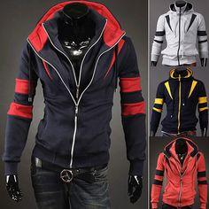 Double Zip Design Men Modern Look Hoodie | Sneak Outfitters