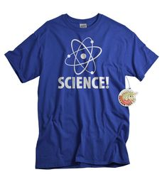 Science T-Shirt Atom Nuclear Symbol Tshirt Man Geekery Shirt Gift for Dad Father…