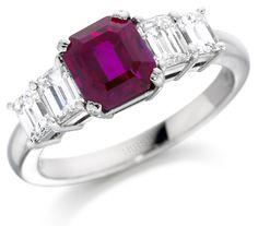Hirsh London ruby and diamond ring (£POA; hirshlondon.com).