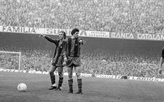 Johan Neeskens   Johan Cruyff in Nou Camp Visca Barça 9e9091aaad8