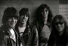 The Ramones .... smiling!