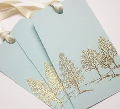 Gold embossed gift tags