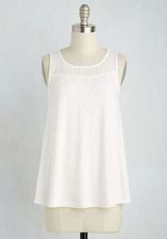 Lovely as a Lullaby Top. Enter your week gently and peacefully in this white tank top! #white #modcloth