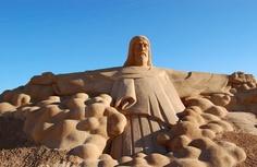 Sand sculptures, Jesus~Amazing Sand Art!!!