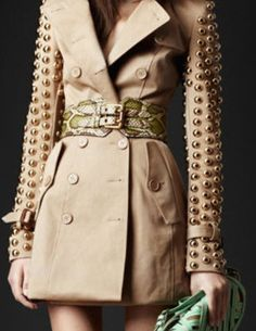 burberry studded trench...here comes the rain again