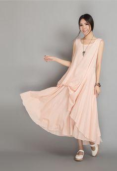 ■ Materials: linen    ■ Description:  Sleeveless Floor length  Big sweep    ■ Color option:
