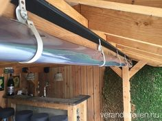 Le plus à jour Images Barbacoa rusticas Concepts Outdoor Curtains For Patio, Porch Curtains, Patio Pergola, Outdoor Blinds, Patio Roof, Backyard Patio, Backyard Landscaping, Gazebos, Patio Enclosures