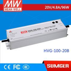 1MEAN WELL original HVG-100-20B 20V 4.8A meanwell HVG-100 20V 96W Single Output LED Driver Power Supply B type #Affiliate