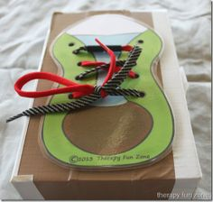 Shoe Tying Printable Practice Shoe - Pinned by @PediaStaff – Please Visit ht.ly/63sNtfor all our pediatric therapy pins