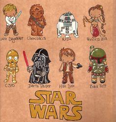Star Wars - Une version Chibi créée par Jucy Lucy