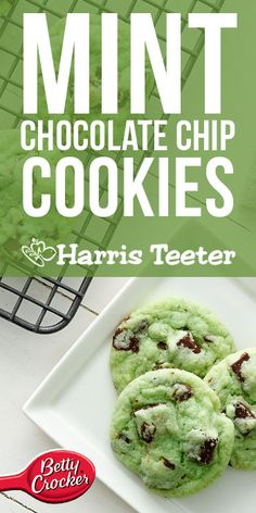 Whip up a batch of cookies with chunks of chocolate and a touch of mint. They… Whip up a batch of cookies with chunks of chocolate and a touch of mint. They're perfect when served warm and gooey with a tall glass of milk. Chocolate Chip Cookies Ingredients, Mint Chocolate Chip Cookies, Andes Mint Cookies, Chocolate Desserts, Holiday Treats, Holiday Recipes, Holiday Cookies, Delicious Desserts, Yummy Food
