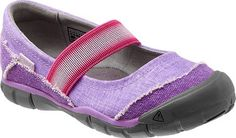Keen Kids Rivington MJ CNX purple canvas mary jane