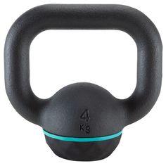 10€ 4 k Deportes Fitness Material de Gimnasio,Yoga - PESA RUSA KETTLEBELL 4 Kg DOMYOS - Material de Musculación-Tonificación