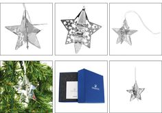 Swarovski MOONLIGHT Crystal Christmas Ornament STAR #1140007
