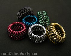 Stretchy Chainmaille Rings in your choice of by ChainedBeauty #chainmaille #jewlery-making