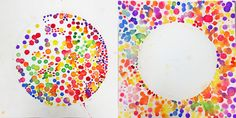 100 dots - 1st grade - A Common Thread: Positive and Negative Space Dots