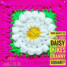 Good Morning!!  Who wants to try the #daisydukesgrannysquare today??  I need you!  So you may have noticed that Emily @make.e and I have been hinting at having something up our sleeves this year... and we're still going to keep you guessing... sorry!  BUT if you have some spare hooky time today it would be AWESOME if you had a go at the SFMGS Daisy Duke granny and let me know roughly how long it takes you to complete please  The free pattern link is in my bio today and it's more of a…