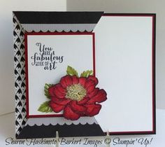 Step by step instructions to recreate this fun fold card