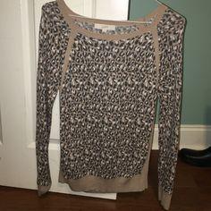 Leopard sweater Worn once LOFT Sweaters