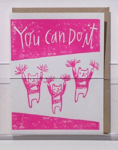 Via Design*Sponge:  This encouraging card from Ghost Academy wins ten points for sheer adorableness. #ghostacademy