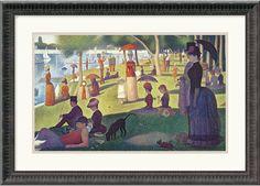 "0-028554>24x17"" Georges Seurat Sunday Afternoon on the Island of La Grande Jatte 1884-1886 Framed Print"